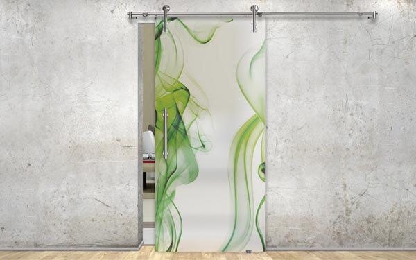 Interiérové dvere zo skla posuvné