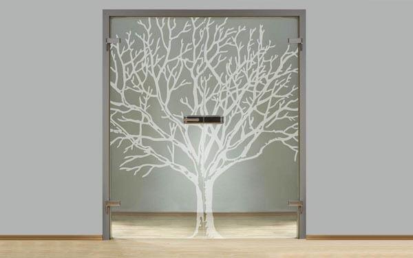 Interiérové dvere zo skla dvojkrídlové