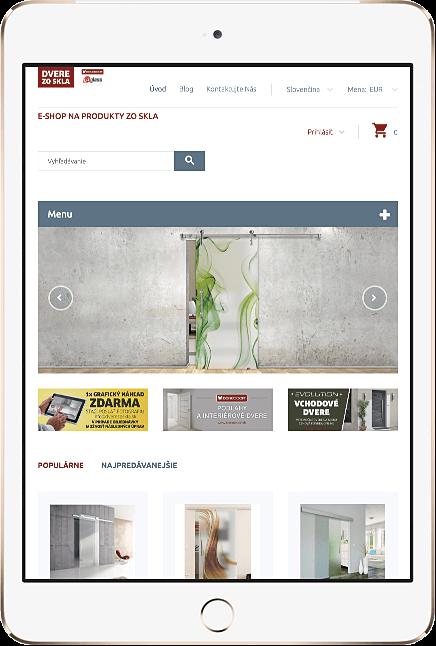 Eshop pre sklenené dvere, sklenené zásteny a sprchové kúty