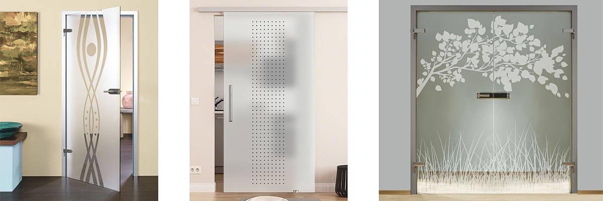 Sklenené interiérové dvere a podlahy