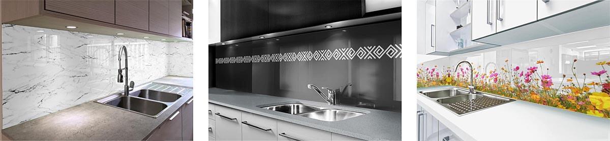 kuchynské zásteny zo skla