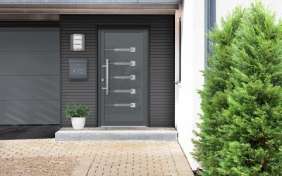 Vizualizácia hliníkových vchodových dverí do rodinného domu