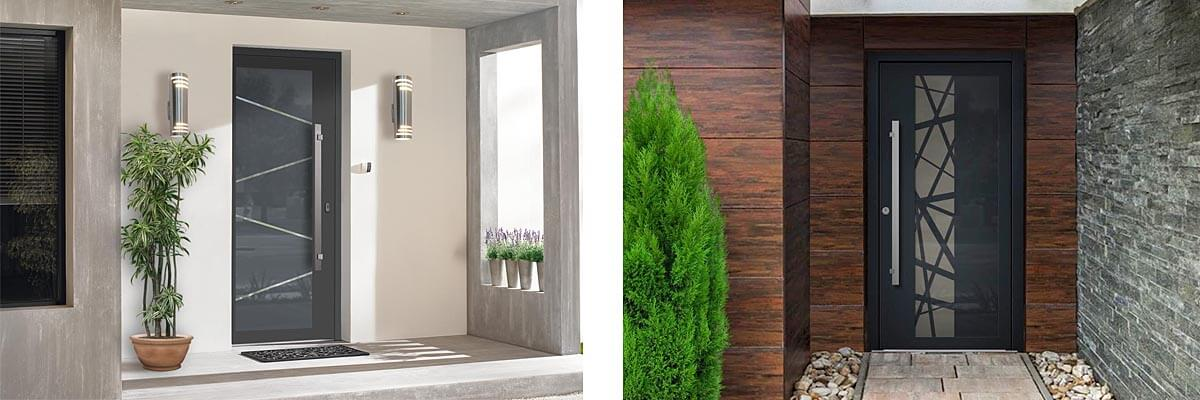 Vchodové hliníkové dvere a podlahy do domu na mieru