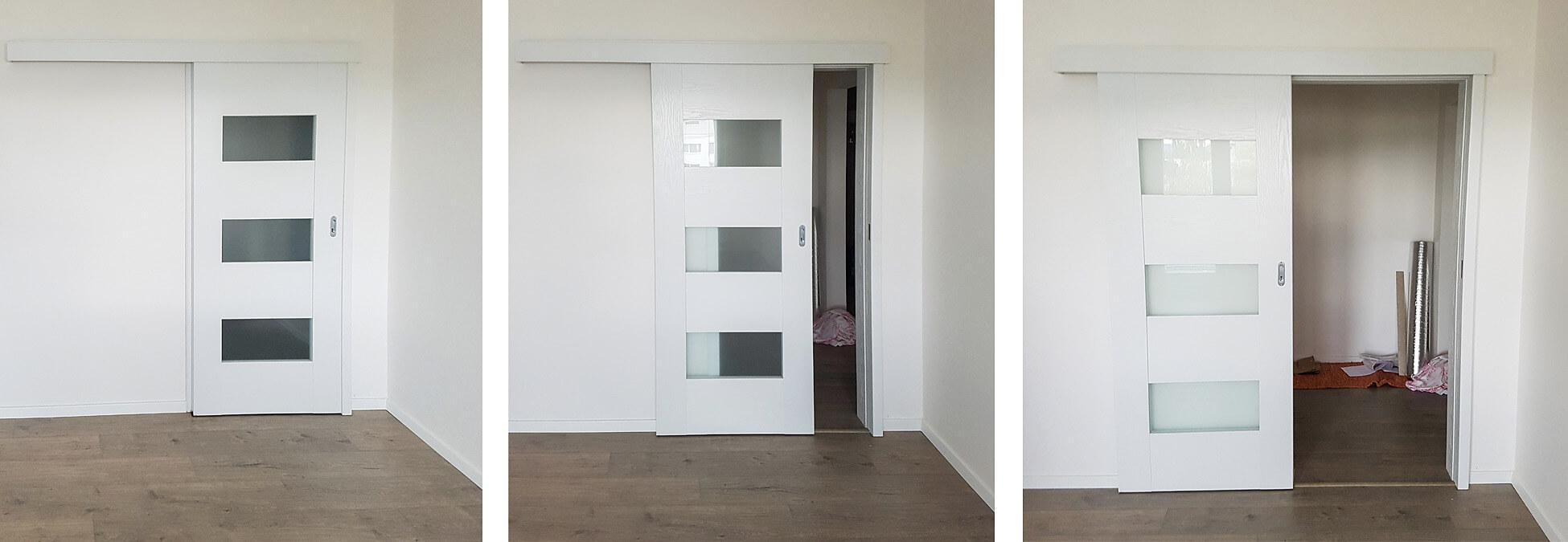 Posuvné interiérové dvere DRE Solte biele