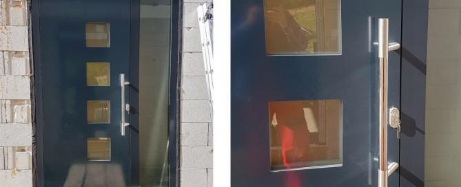 Vchodové hliníkové dvere AV-450 do rodinnného domu v Považskej Bystrici